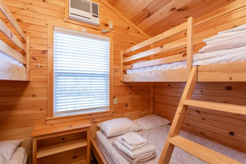 Bunk Beds Bedroom of Two Bedroom Cottage